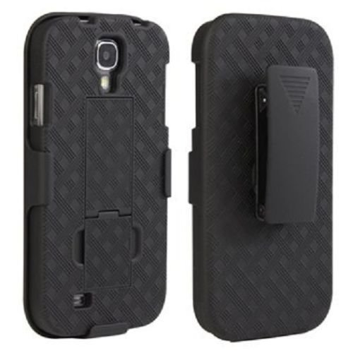 Samsung Galaxy S4 Fall - Gürtelclip Holster Combo Handy Fall mit Kick Ständer Drehbar Cover celldealsusa (TM) Schwarz (T-mobile Galaxy Handy S4)