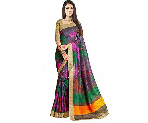 Shagun Sarees Women's Georgette Saree(Multi-Coloured)
