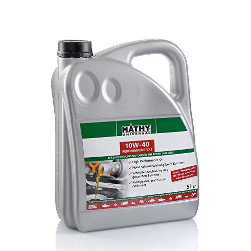 MATHY SAE 10W-40 Performance VX1 5 Liter Motoröl
