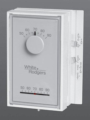 White-Rodgers 1E56N-444 Low V Mechanical Thermostat, 50 to 90 Degree F, White by White-Rodgers