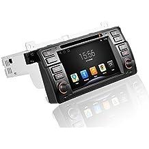 likecar HD 7pulgadas 1024* 600Quad Core capacitiva Android 4.4Radio de coche Moniceiver para BMW 3E46318320325330335M31998–2006admite GPS Navegación Bluetooth Wifi Sistema multimedia con FM AM Dual Zona RDS DVR Hot Spot 3G WiFi