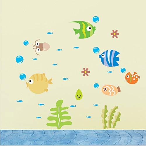 Fisch Wandaufkleber Nette Fische Im Meer Kinderzimmer Wandaufkleber Für Kinderzimmer Bad Aufkleber Wohnkultur Aufkleber ()