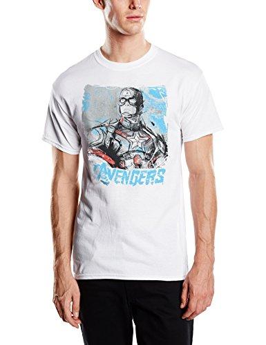 Marvel Avengers Age Of Ultron Captain America Sketch-camiseta Hombre