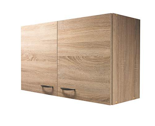 Flex-Well Küchen-Hängeschrank HERNE | Oberschrank vielseitig einsetzbar | 2-türig | Breite 100 cm | Eiche Sonoma