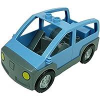 Preisvergleich für Transporter Auto Caprio hell blau grau Wagen Lego Duplo E35