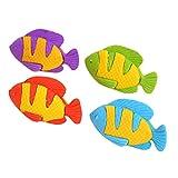 Wansan 4 Stücke Gummi Fisch Radiergummi Spielzeug Gastgeschenk Geschenke für Geburtstag Party