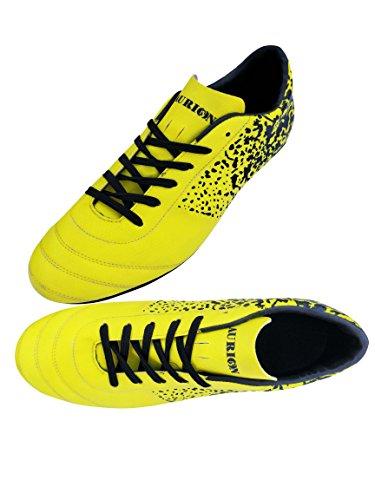 Aurion Freedom premium Range Football Shoes / Football Studs Unisex (8, Yellow)