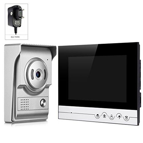 V70RM-L + Video-türsprech 7 zoll HD Bildschirm IR Nachtsicht Kamera Türsprechanlage Intercom Monitor für Haus Büro Wohnung LUFA