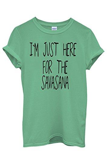 i-am-just-here-for-savasana-novelty-men-women-damen-herren-unisex-top-t-shirt-s