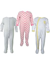 Teddy's Choice 100% Cotton Multi color 3 Combo Kid's Romper for 0-3 Months :Modle-013