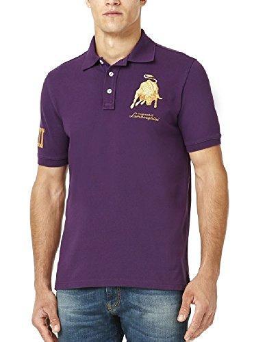 Polo-Shirt Automobili Lamborghini-Sportwagens Le Mans lx111Bull violett Polo, Herren, - Lamborghini-shirt