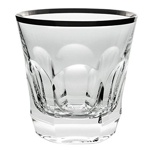 Cristal de Sèvres Chenonceaux Set de Verres à Whisky, Verre, Platine, 10 x 10 x 10 cm, Lot de 2