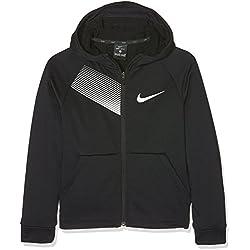 Nike B NK Dry Hoodie FZ FLC Sudadera, Niños, Negro (Black/White), M
