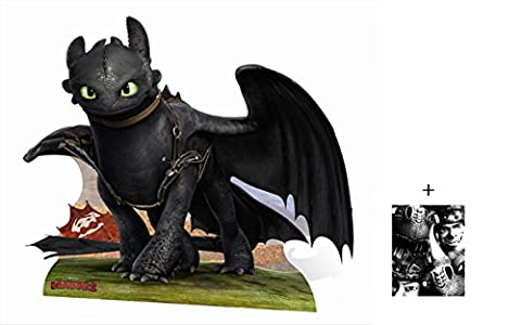 Fan Pack - Toothless from How To Train Your Dragon 2 Lifesize Cardboard 2D Standup / Cutout Plus 20x25cm