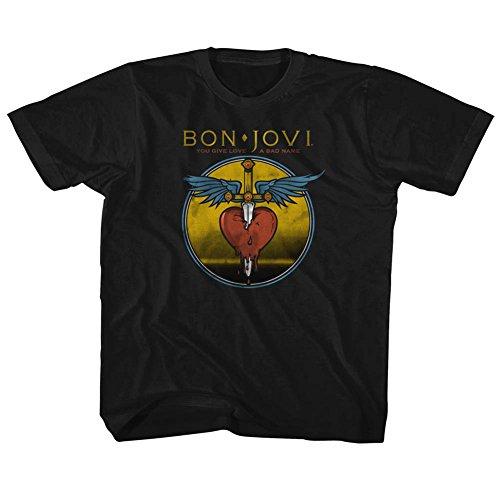 American Classics Bon jovi rock-band in verruf jugend groß T-shirt für Jungen Jugend X- Klein Schwarz
