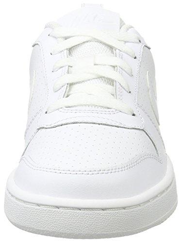 Nike Mädchen Wmns Court Borough Low Basketballschuhe, Weiß, 36 EU Elfenbein (Whitewhitewhite 110)