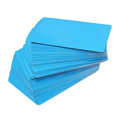 LGJJJ 100 Blatt Multi-Color Aluminiumfolie Papier Party Schnäppchen Aluminium Oblong Folie Pan Container Und Borddeckel Set Aluminium-oblong Pan