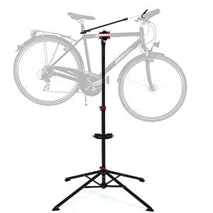Ultrasport Caballete para bicicleta Expert, robusto caballete para bicicleta, también para bicicletas de montaña – caballete para la reparación de bicicletas de toda clase hasta 30 kg, con funciones útiles para la reparación de bicicletas
