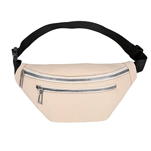 VJGOAL Bauchtasche Damen Herren Unisex Brusttasche Elegant Klein Einfarbig Umhängetasche Messenger Verstellbarer Schultergurt für Taschen -