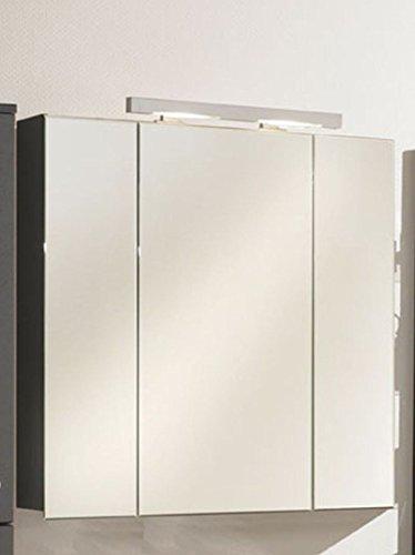 #Zoll laVie Alina/Jolie/Danielle Spiegelschrank mit 3 Türen und 6 Glasfachböden – Breite: 80 cm in anthrazit#