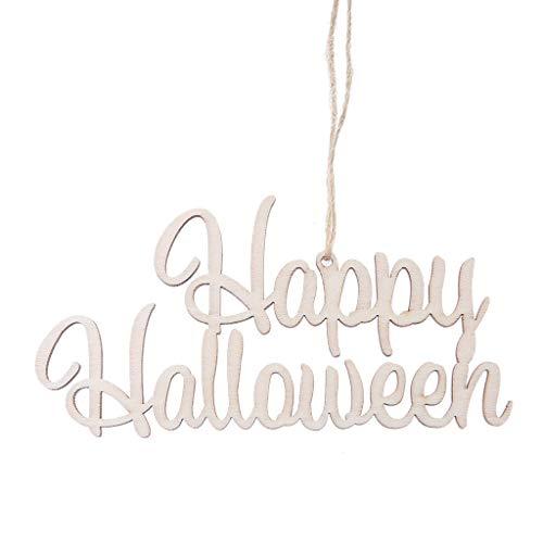 ppy Halloween' Hängende Tag DIY Ornamente Lustige Kleiderbügel für Home Office Dekoration ()