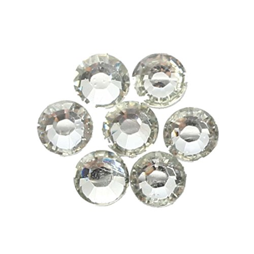 Cristal Rhinestones - TOOGOO(R) 2000pcs Cristal Rhinestones Flatback Acrylique Perles Nail Art Blanc