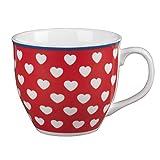 Cambridge CM04302 Oxford Happy Heart Fine China Mug, Multi-Colour