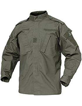 TACVASEN - Chaqueta de combate para hombre, resistente a los arañazos, de algodón, hombre, Army Green, Small(fit...
