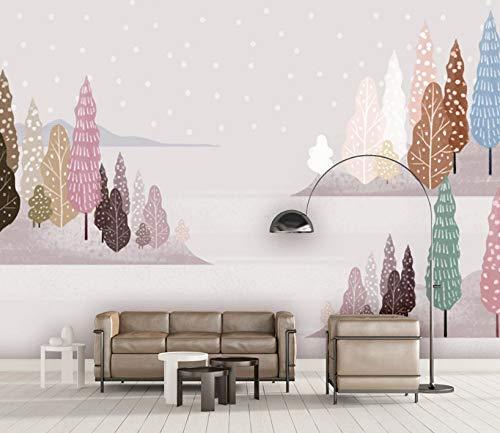 VVBIHUAING 3D Tapete Wand Aufkleber Wandbilder Dekorationen Illustrationslandschaftshand Gezeichnet Dekoration Kunst Kinder Schlafzimmer (W) 400x(H) 280cm