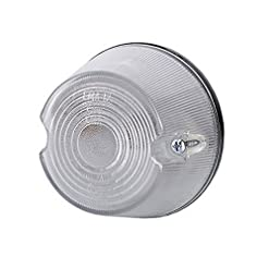 1x anteriore bianco luce di indicatore laterale 12V 24V e-contrassegnato auto camion rimorchio luce di posizione illuminazione Outline rotondo ovale cerchio universale lampadina