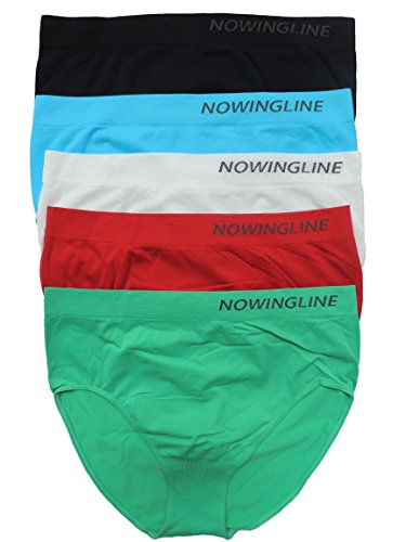 Nowingline 5 Stück Damen Slips Größe 38-64 (44)