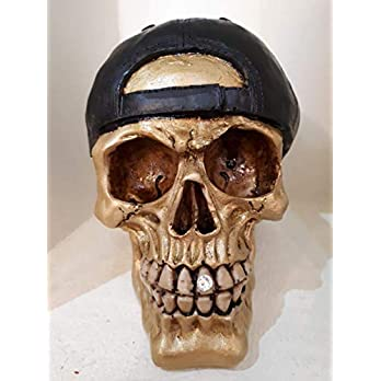 Handgefertigter Totenkopf Basecap