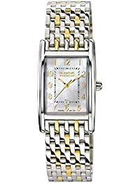 Dugena Damen Quadra Artdeco Armbanduhr, Edelstahl, silber/gold
