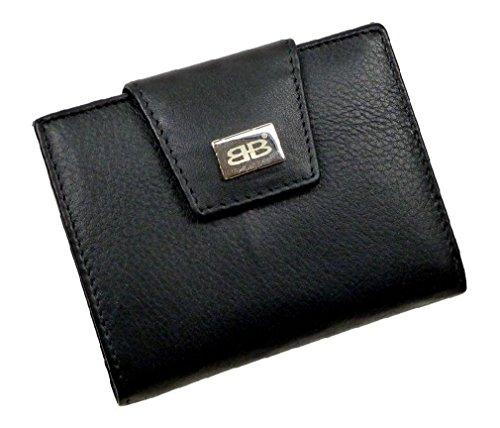 BERNARDO BOSSI Geldbörse Geldbeutel Wiener Schachtel (schwarz)