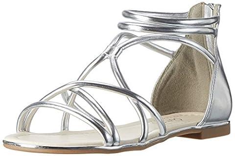 Another Pair of Shoes Damen SelmaE1 Offene Sandalen mit Keilabsatz, Silber (Silver100), 36 EU