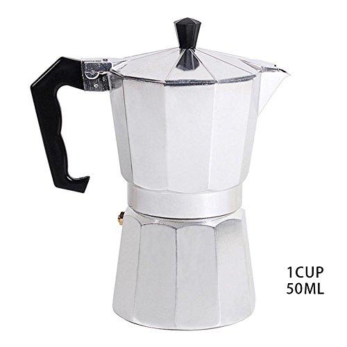 Storagc Espresso Maker, Typ achteckigen Haushalt Aluminium Espresso Percolator Maker italienischen Moka Kaffeekocher Herd Top Kaffee Percolator