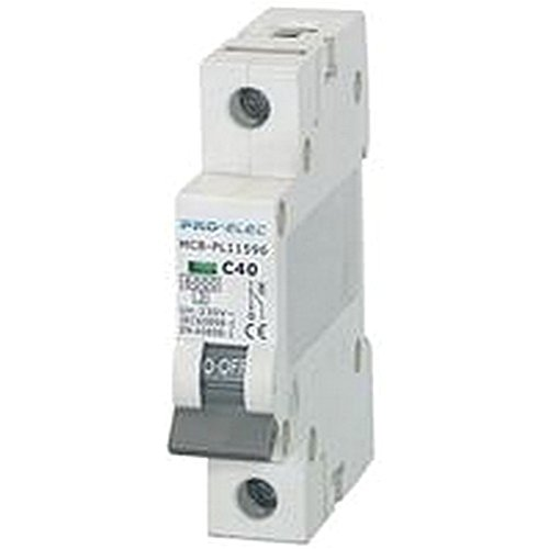 Breaker Single (MCB-C Curve 40A Breakers-, MCB Single Pole C-Kurve 40A, Nennstrom: 40A, Pol-Anzahl: 1V AC, Spannung: 230V, Tiefe: 74mm, Länge/Höhe: 83mm, Breite: 17.6mm, pl11596)