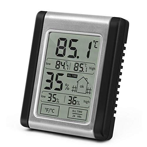 CWC Higrómetro Indicador de Alta precisión Cubierta termómetro, higrómetro Digital, Temperatura...