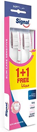 Signal Toothbrush Double Care Sensitive, Medium, 2piece