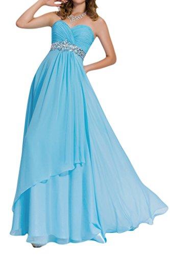 9c12189d0cdd Gorgeous Bride Modisch Herz-Ausschnitt Empire Lang Chiffon Abendkleider  Festkleider Ballkleider Blau. bodenlang ...