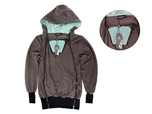 5a35b125329 Exclusive Version-NeuFashion Double Thick Real Baby Carrier Hoodie Jacket  Kangaroo Coat Jacket Women Maternity Pregnant Top Baby Wearing Baby Holder  Fleece ...