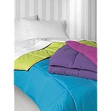 Nórdico Oslo reversible doble color - cama individual - 150x220 - verde/azul