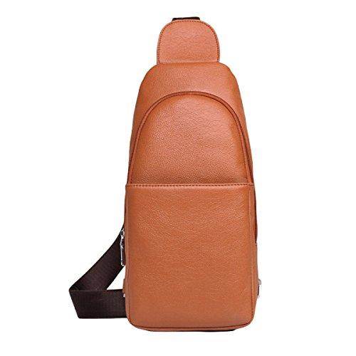 Männer Brusttasche Kuriertasche Schultertasche Mode Freizeit Im Freien Wild Brown