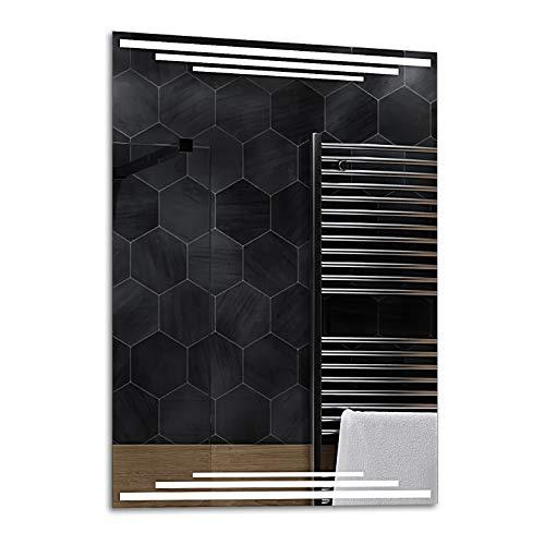 ALASTA® Espejo   Premium Espejo Moderno e Iluminado   70x100   Birma   Premium Espejo retroiluminado...