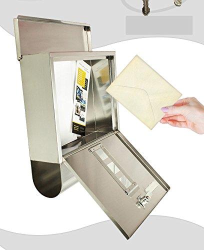 Jeising Briefkasten mit Zeitungrolle, edelstahl, JEI B-2210 - 3