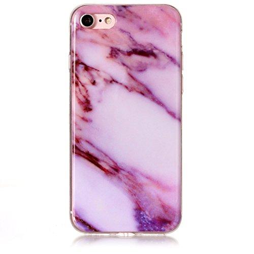 Docrax iPhone 7 / iPhone 8 Hülle mit Marmor Muster, Handyhülle Silikon Stoßfest Kratzfest Schutzhülle Bumper Case für Apple iPhone7 / iPhone8 (4,7 Zoll) - DOYHU40683#4