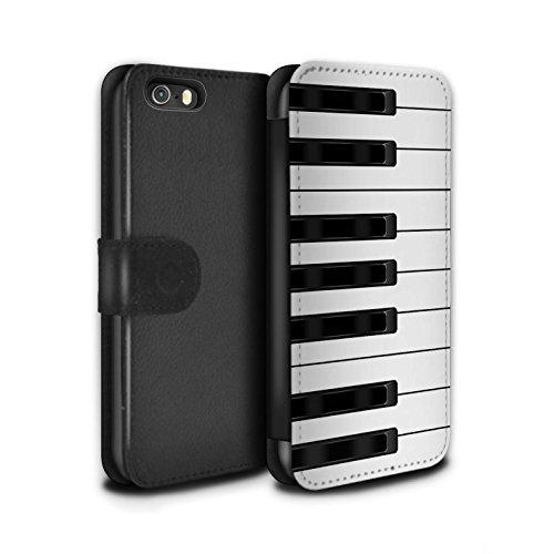STUFF4 PU-Leder Hülle/Case/Tasche/Cover für Apple iPhone 5/5S / Klavier/Piano Muster / Schaltfläche/Tasten Kollektion Klavier/Piano