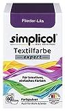 Simplicol Expert Fabric Dye Tinte de Coloración para Textiles: Lavado a Mano o Lavadora - Tiñe y Restaura Sus Telas y Ropa - púrpura