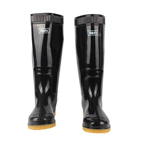 zxcvbnm PVC rutschfest Wasserdicht Schuhe tragen/Gummi Arbeit Schutz hohe Stiefel, 52