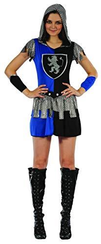 Kostüm Für Erwachsene Ritter Sexy - KULTFAKTOR GmbH Sexy Ritterin Damenkostüm blau-Silber-schwarz M